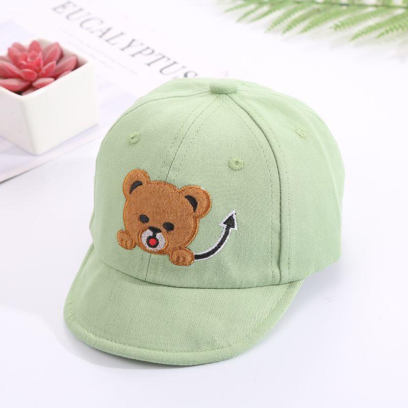 H0e12b94436b64335b0833ea07628b572f - Baby Hat Cute Bear Embroidered Kids Girl Boy Caps Cotton Adjustable Newborn Baseball Cap Infant Toddler Beach Outdoor Sun Hat