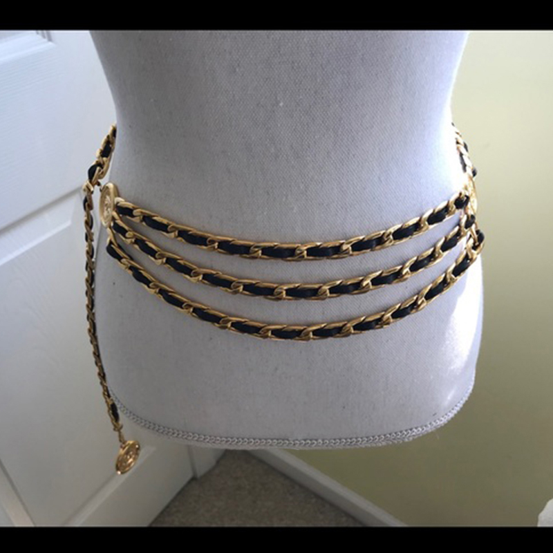 New Design Women Belts For Women Belly 3 Row Large Size Chain Belt Statement Waist Brand Belts Body Jewelry Women Accessories