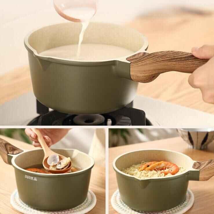 Nhà Bếp Sáng Tạo MINI Cate Máy Làm Nhỏ sữa Chảo lúa mì đá Chống Dính Nước Chảo Vỏ Nồi chảo rán được trong sử dụng thông thường