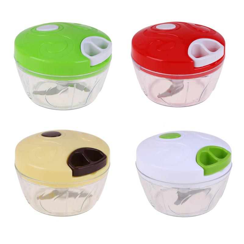 Manual Food Chopper Household Vegetable Chopper Multifunction Food Processor Kitchen Crusher Portable Manual Meat Grinder