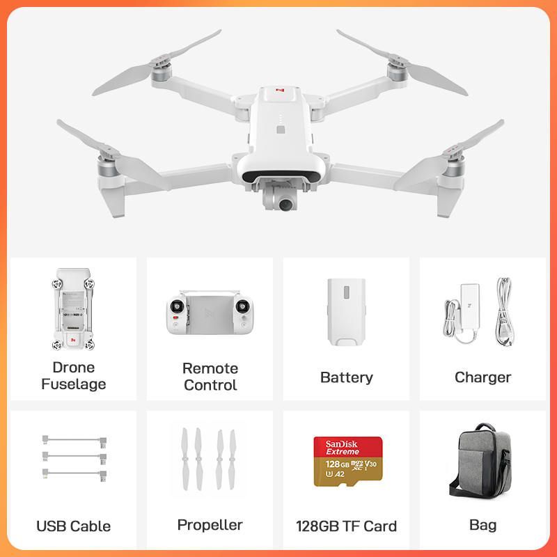 FIMI X8 SE 2020 Camera Drone Bag Set with 64GB 128GB TF card 8km new version x8se Drone 35mins FPV 3-axis Gimbal 4K Camera HDR