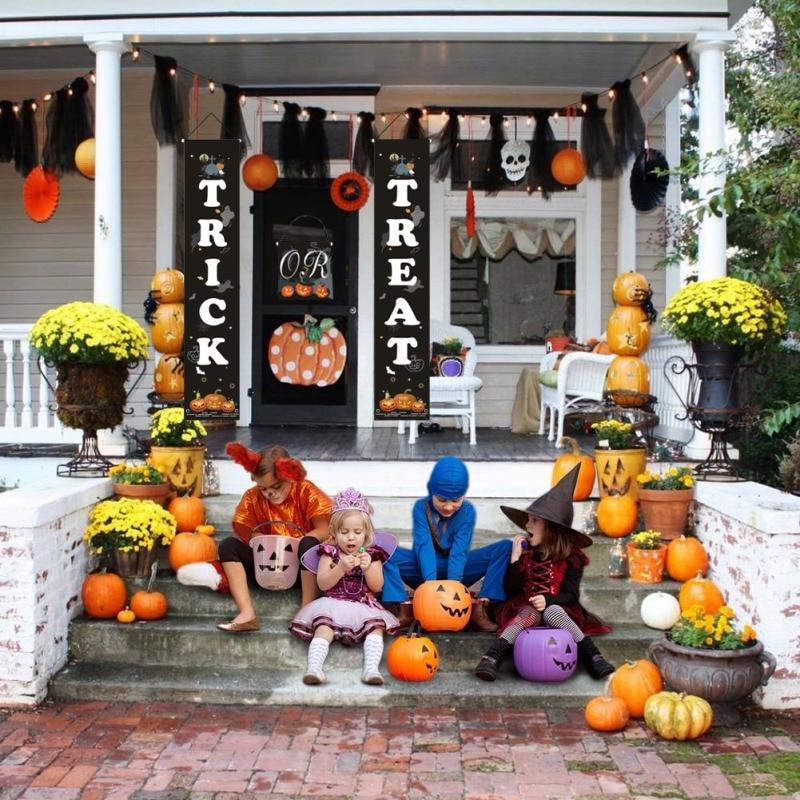 Хэллоуин подвесной знак трюк или аттракцион баннер для Дома Офиса крыльцо передней двери дисплей вечерние украшения