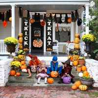 Halloween Hanging Sign Trick Or Non-woven Treat Banner For Home Office Porch Front Door Display Party Decoration Hanging Props