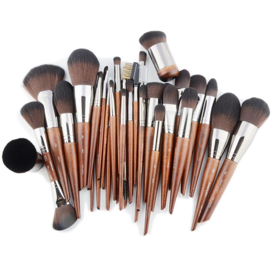 1 Piece Foundation Powder Makeup Brush Face Natural Wood Buffing Highlight Eye Shadow Concealer Detail Make Up Brushes Eyebrow