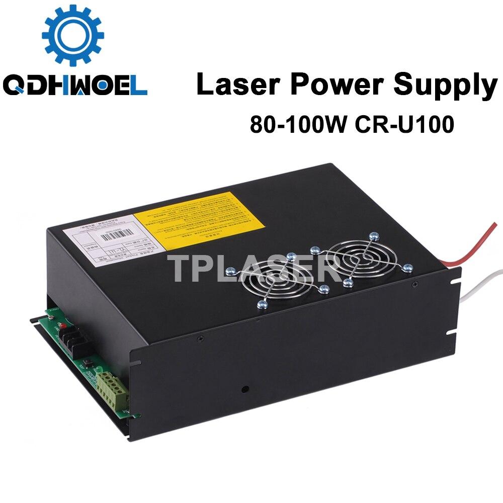Yongli лазерный источник питания 100 150 Вт для CO2 лазерной трубки CR U100 серии U CO2 станок для лазерной гравировки