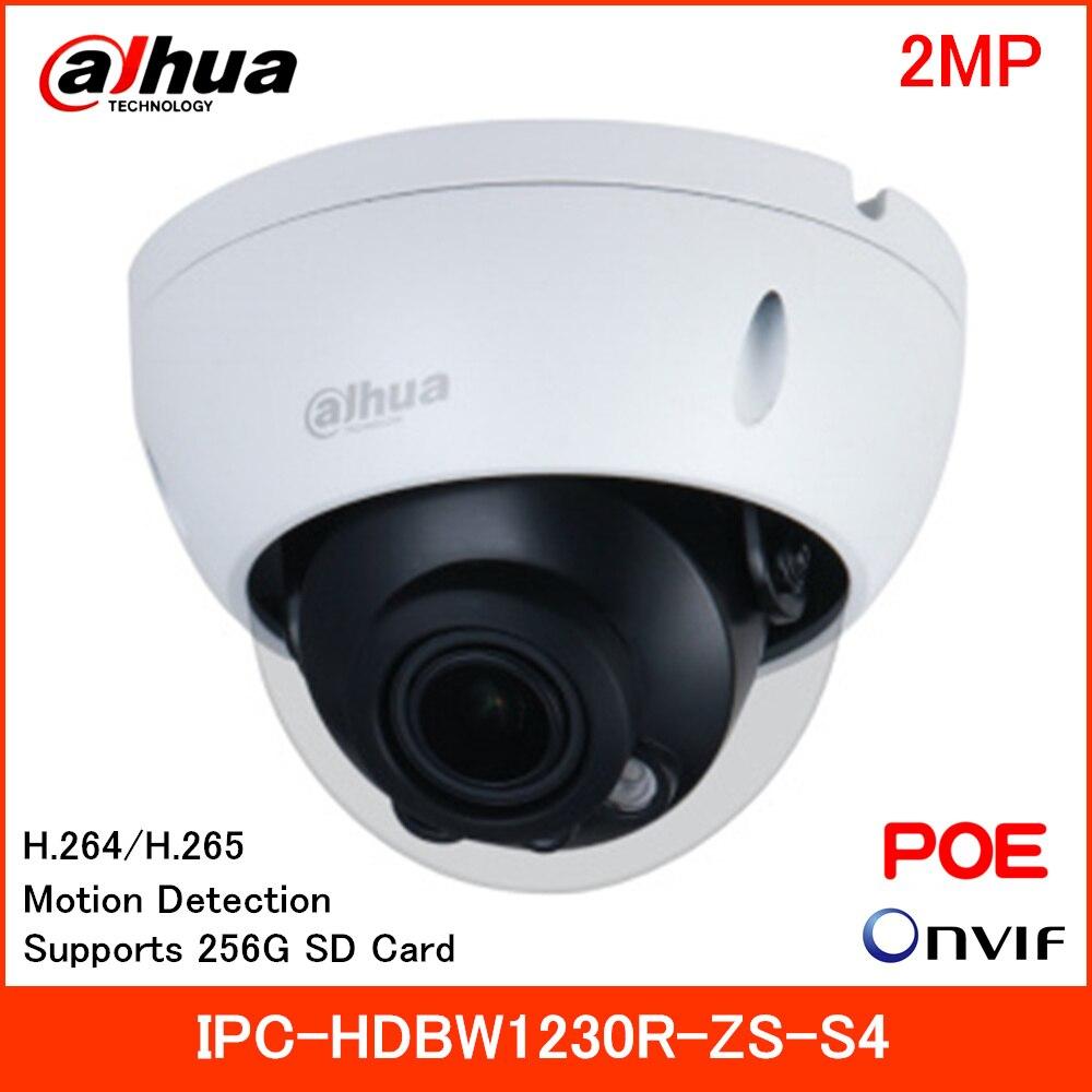 Dahua 2MP entrée IR dôme Vari-focal caméra IP IPC-HDBW1230R-ZS-S4 mode de Rotation intelligent H.264 H.265 2.8mm-12mm prise en charge de la carte SD 256G