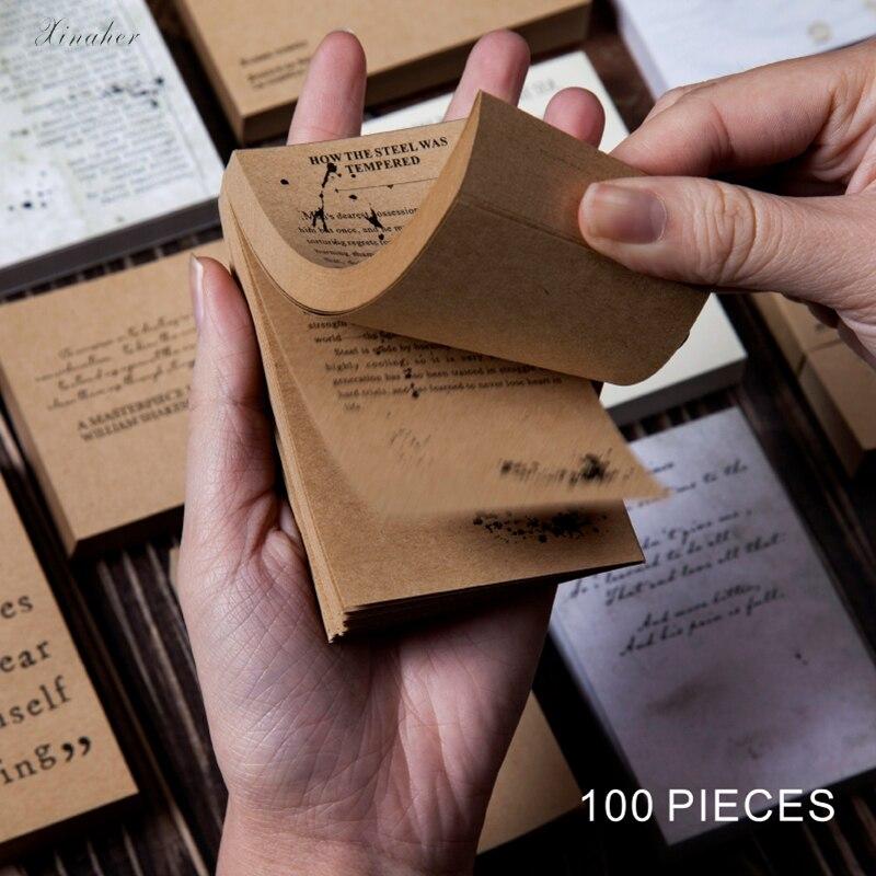 Papel Kraft para libros en inglés, papel de nota para escribir DIY, organizador creativo de diario Junk, artesanía de papel, artesanía decorativa para álbum de recortes, álbum
