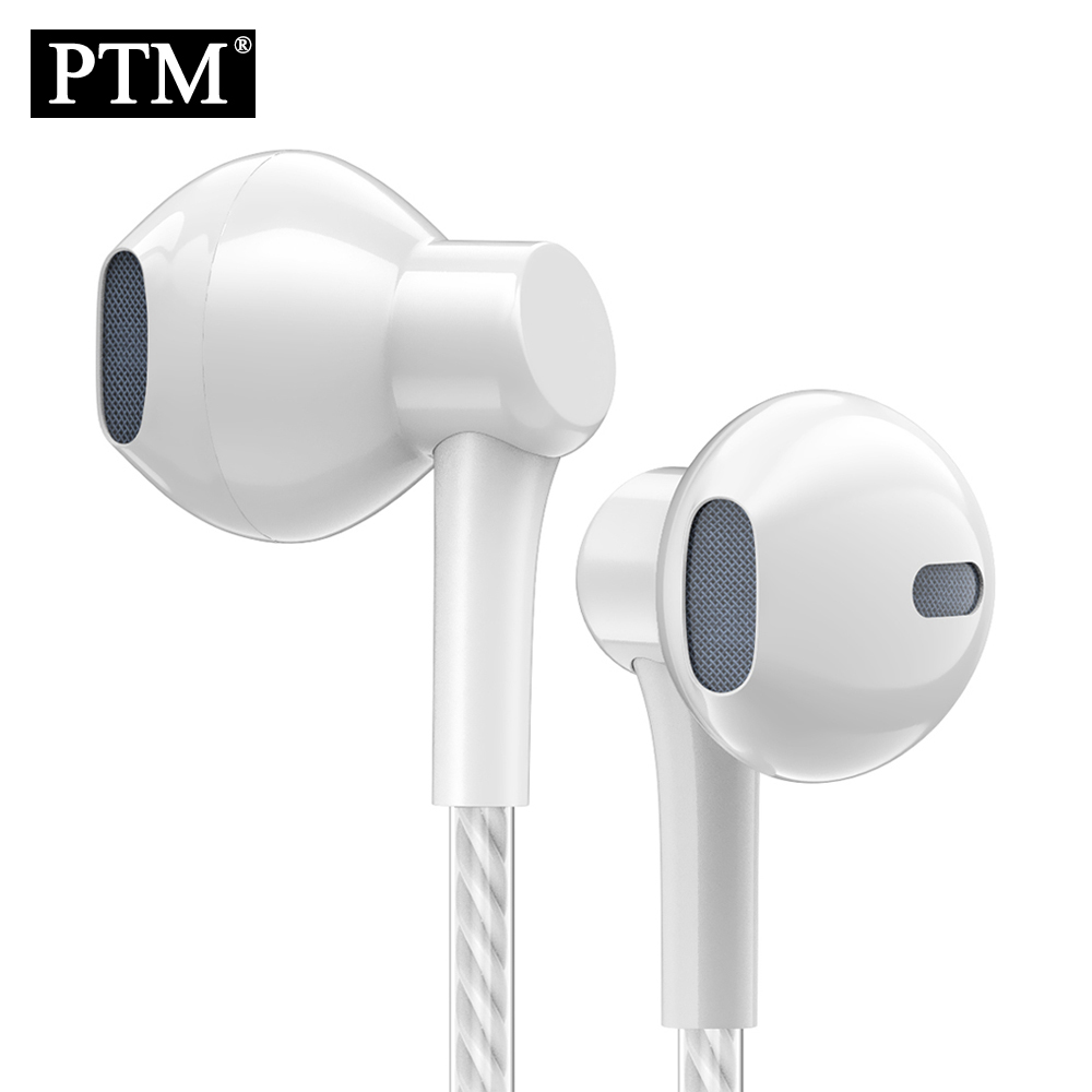 PTM P7 Stereo Bass Earphone Headphones with Microphone Wired Gaming Headset for Phones Samsung Xiaomi Iphone Apple ear phone