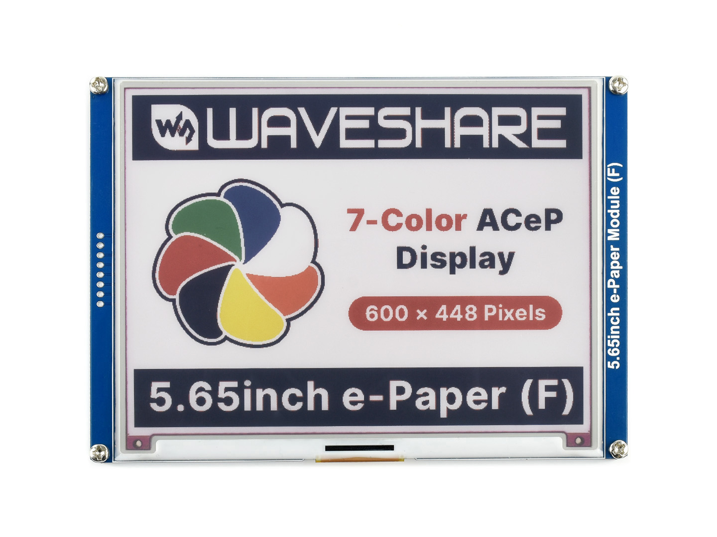 5.65inch ACeP 7-Color E-Paper E-Ink Display Module, 600×448 Pixels, Paper-Like Displaying Without Electricity,e-Paper Module (F)
