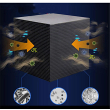 Eco-Aquarium Water Purifier Cube Activated Carbon Water Filter 10X10CM Honeycomb Ultra Strong Filtration & Absorption Filter цена и фото