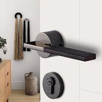 Indoor Magnetic Door Lock Bedroom Mute Key Electric Smart Digitals Modern Simple Toilet Solid Wooden Door Split Lock