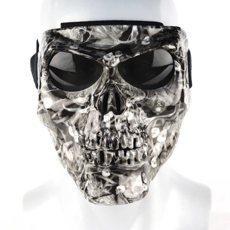 Vintage Skull Motorcycle Glasses Detachable Modular Mask Motorcycle Goggles