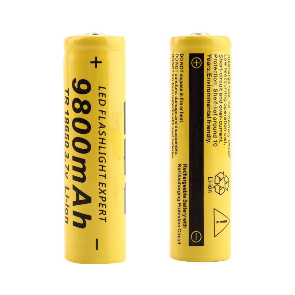 High Quarity1/2/4/8/10PCS/LOT 3.7V 18650 Battery 9800mah Lithium Batteria Rechargeable Battery For Torch Flashlight  Accumulator
