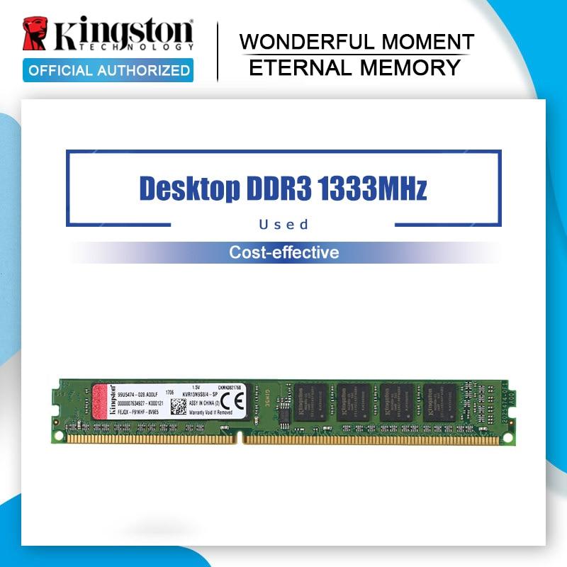 Kingston pamięci ram DDR 3 1333MH DDR3 4GB PC3-10600 Z 1.5V dla komputerów stacjonarnych KVR13N9S8/4-SP