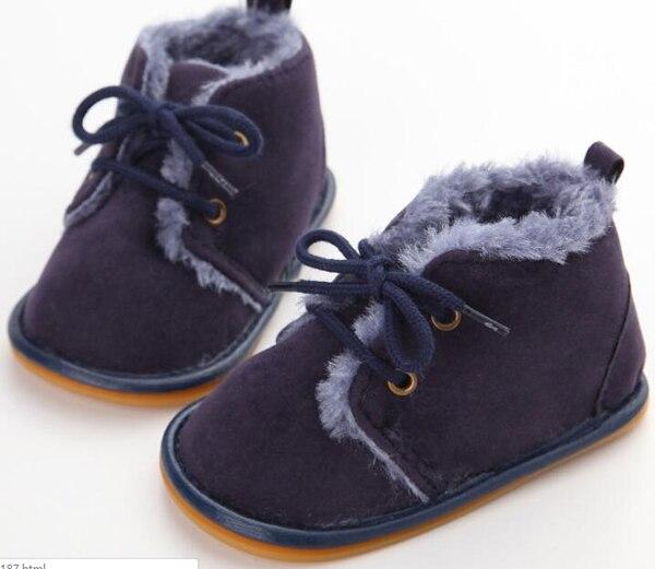 SandQ Baby Boots Newborn White Girls Infant Shoes Prewalkers Crib Nonslip Fur 2019 Winter Warm Christenning Baby Boys Boots