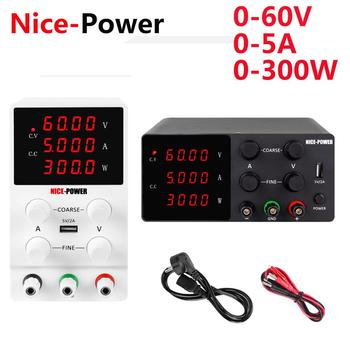 Nice-power 60V 5A Lab DC Power Supply Adjustable Laboratory Power Source Digital For Phone Repair + Short Circuit Protection image