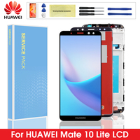 Original Display For Huawei Mate 10 Lite LCD Touch Screen Digitizer with Frame For Huawei Mate10 Lite Nova 2i RNE L21 Screen|Mobile Phone LCD Screens| |  -