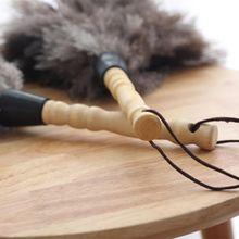 1 шт. антистатические страусиные перья меховая щетка пылеочиститель деревянная ручка инструмента 72XF