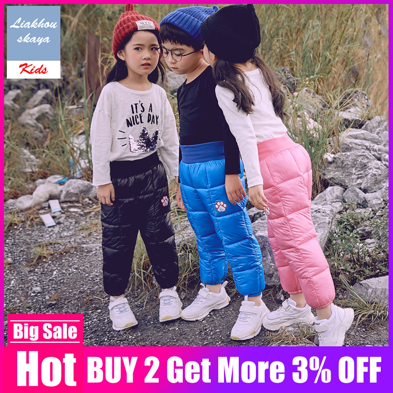 Trousers Snow-Pants Baby-Boys Winter Children Clothing Girls Autumn Kids New for Thicken