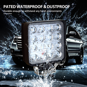 Image 5 - Willpower 20 PCS High Power IP67 waterproof Offroad 4x4 led driving light truck tractor flood beam 48w led work light 12V 24V