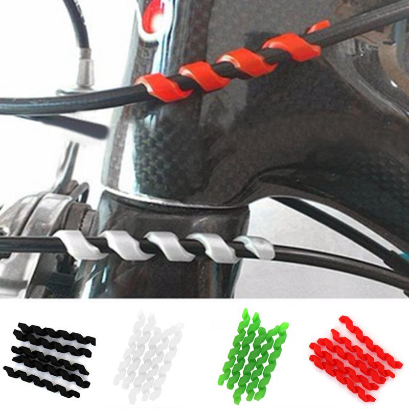 5Pcs אופניים בלם כבל מגיני נגד חיכוך דיור גומי מגן אופניים מסגרת רכיבה על אופניים גלישת משמר צינורות