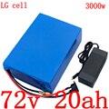 Аккумулятор для электрического скутера  72 в  2000 Вт  3000 Вт  72 в  20 А · ч  литиевая батарея 72 в 20 А · ч для LG cell