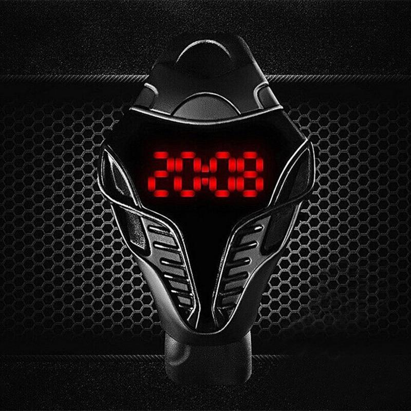 2019 Men LED Digital Watches Fashion Creative Cobra Triangle Sports Relogio Masculino