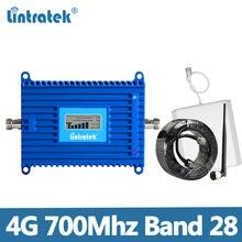 Lintratek repetidor de señal de teléfono móvil, amplificador de celular AGC 70dB LTE para Europa, 4G 700, Ampli LTE, 700Mhz, Band28
