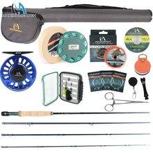 Maximumpick Kit de canne à pêche à la mouche, 2/3/4WT, 10 pieds, Action modérée et rapide, boîte combinée