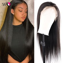 Closure-Wig Lace-Frontal 4X4 Straight Wome with Baby-Hair 13x4 Glueless Pre-Plucked Brazilian
