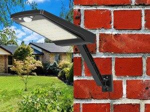 Image 3 - 2020 새로운 56 led 태양 빛 야외 방수 태양 램프 모션 센서 벽 빛 거리 정원 보안 원격 스포트 라이트 #