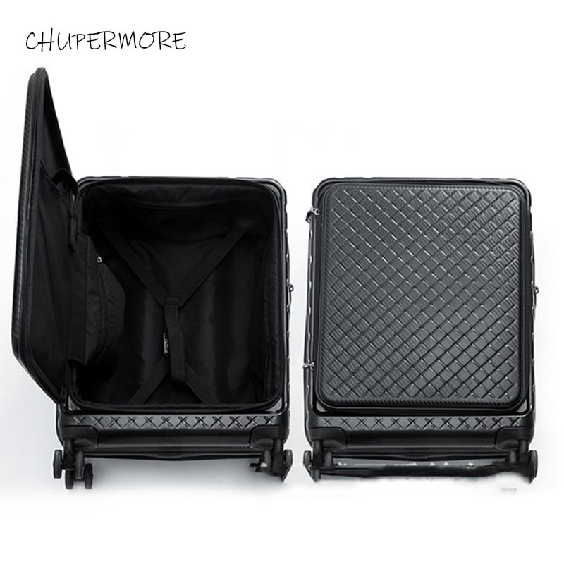 20-inch Standard Boarding FashionFlip Cover  Rolling Luggage Spinner Brand  Suitcase Wheels 20 Inch Cabin Password Trolley