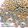 8 мм 200/400 шт Бусины европейские бусина с большой дырой CCB бусинки из пластика бусины для изготовления ювелирных изделий (Метал отсутствует) в ...