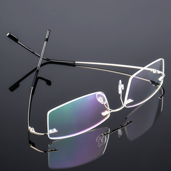 High Grade Coating Frameless Finished Myopia Glasses Anti Blue Light Prescription Eyeglasses 0 -0.5 -1 -1.5 -2 -2.5 -3 -4 -5 -6