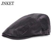 JNKET мужской берет из искусственной кожи, повседневная Кепка, плоская кепка, зимняя, осенняя, ветрозащитная Кепка, регулируемый размер