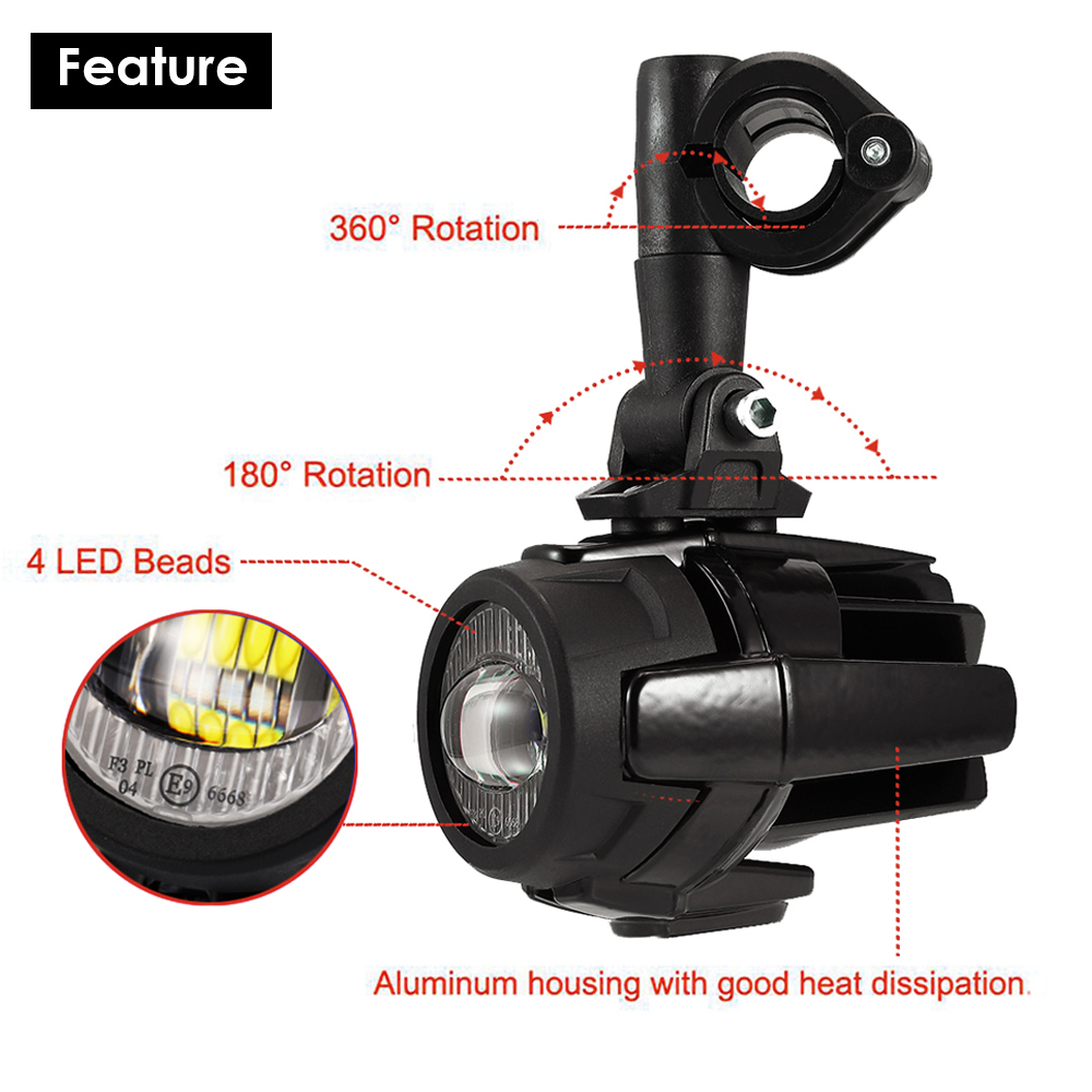 Image 3 - R1200GS 40W Motorcycle LED Fog Lights Auxiliary Assembliy For BMW R1200GS F850GS F750GS F 850GS 750GS 1250GS GS LC Adventure    -