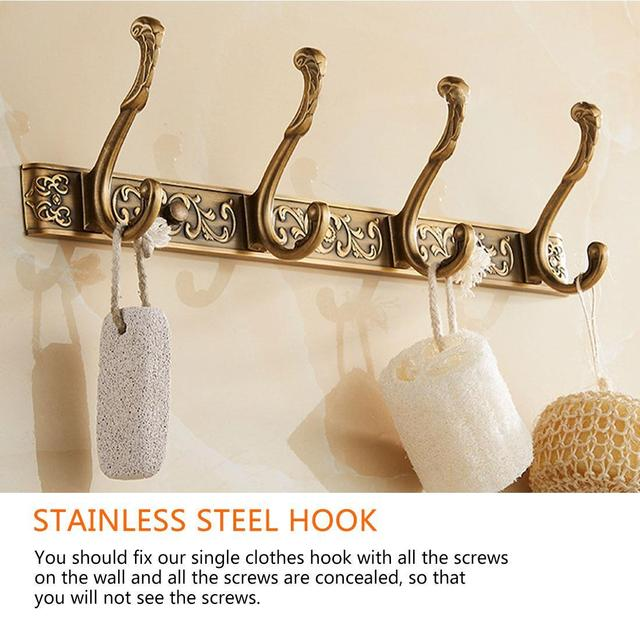 Фото роскошная настенная вешалка для ванной 5 ряд крючков крючок