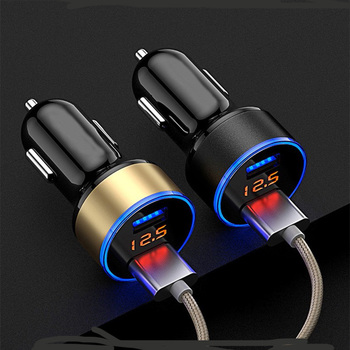 Universal Dual Port USB Car Charger for BMW 1 2 3 4 5 6 7 Series X1 X3 X4 X5 X6 325 328 F30 F35 F10 F18 GT E36 E38 E39 E46 E52 image