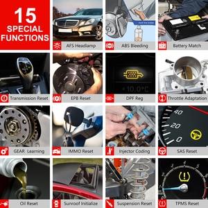 Image 5 - LAUNCH X431 CRP909 Obd2 автомобильный диагностический инструмент Wifi полная система авто ABS SAS DPF EPB сброс масла Obd 2 Автомобильный сканер PK MK808