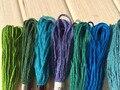 100 шт., хлопковые нитки для вышивки