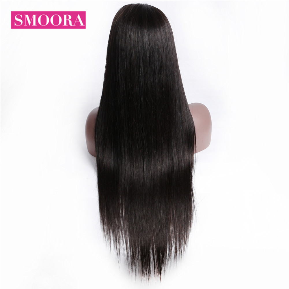 Straight Full Lace  Wigs    Hair 150% Density Natural Hairline Long Full Lace Wig 10-26 Inches 5