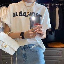 Mulheres verão branco algodão carta impressão camiseta feminina casual streetwear moda camisetas amantes solto o-pescoço manga curta topos ins