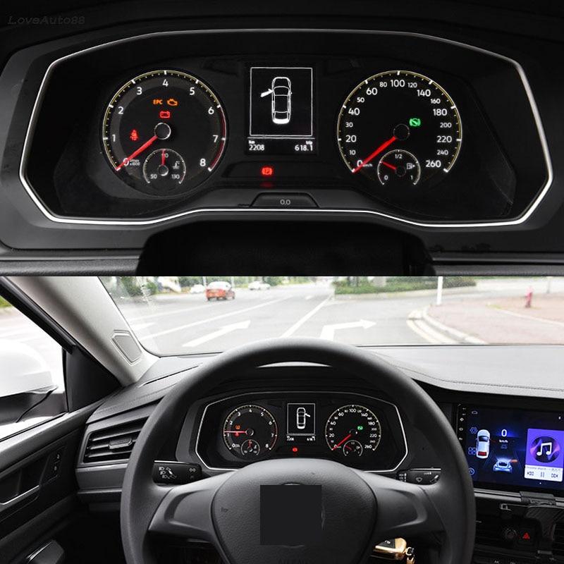 Автомобильная закаленная пленка из ТПУ для приборной панели, Защитная пленка для экрана, протектор экрана для Volkswagen VW Jetta MK7 2019 2020 2021