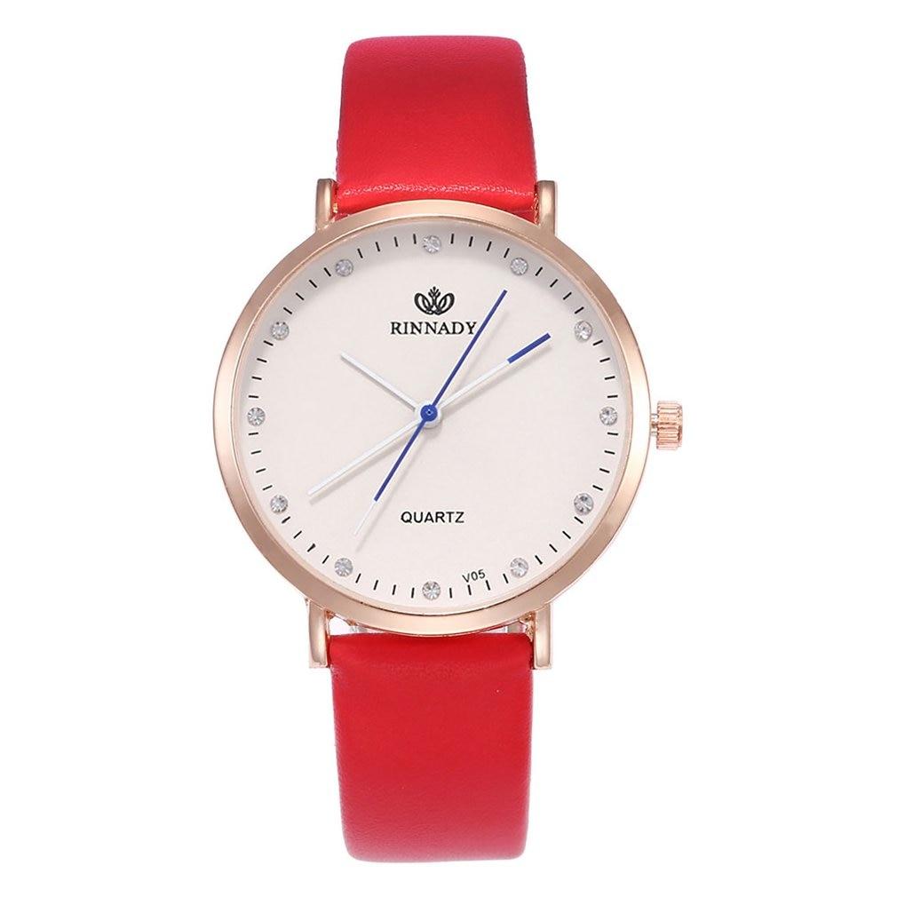 Classic Big Round Dial Leather Strap WristWatch Orologio Uomo Bracelet Valentine Students Teenage GIFTS Women Quartz Watches