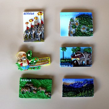 Indian Landscape Resin Refrigerator Magnet kerala Magnet Stickers  refrigerator magnets  fridge magnet magnet for fridge decor hinduism shakthi art glass magnetic refrigerator stickers 30 mm fridge magnet amulet yoga lord shiva vishnu india home decor