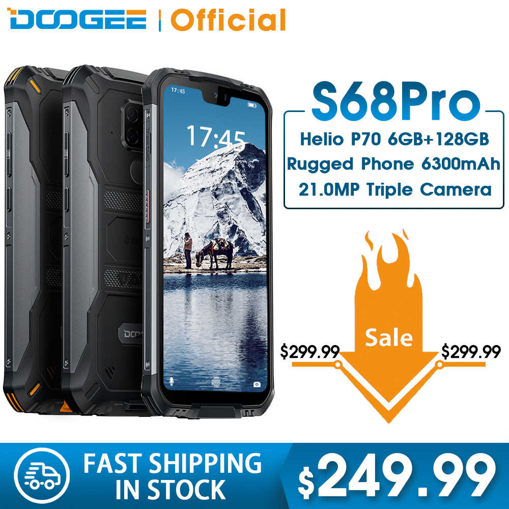 Doogee S68 プロ IP68 防水頑丈な電話エリオ P70 オクタコア 6 ギガバイト 128 ギガバイトワイヤレス充電 nfc 6300 12V2A 充電 5.9 インチ fhd +