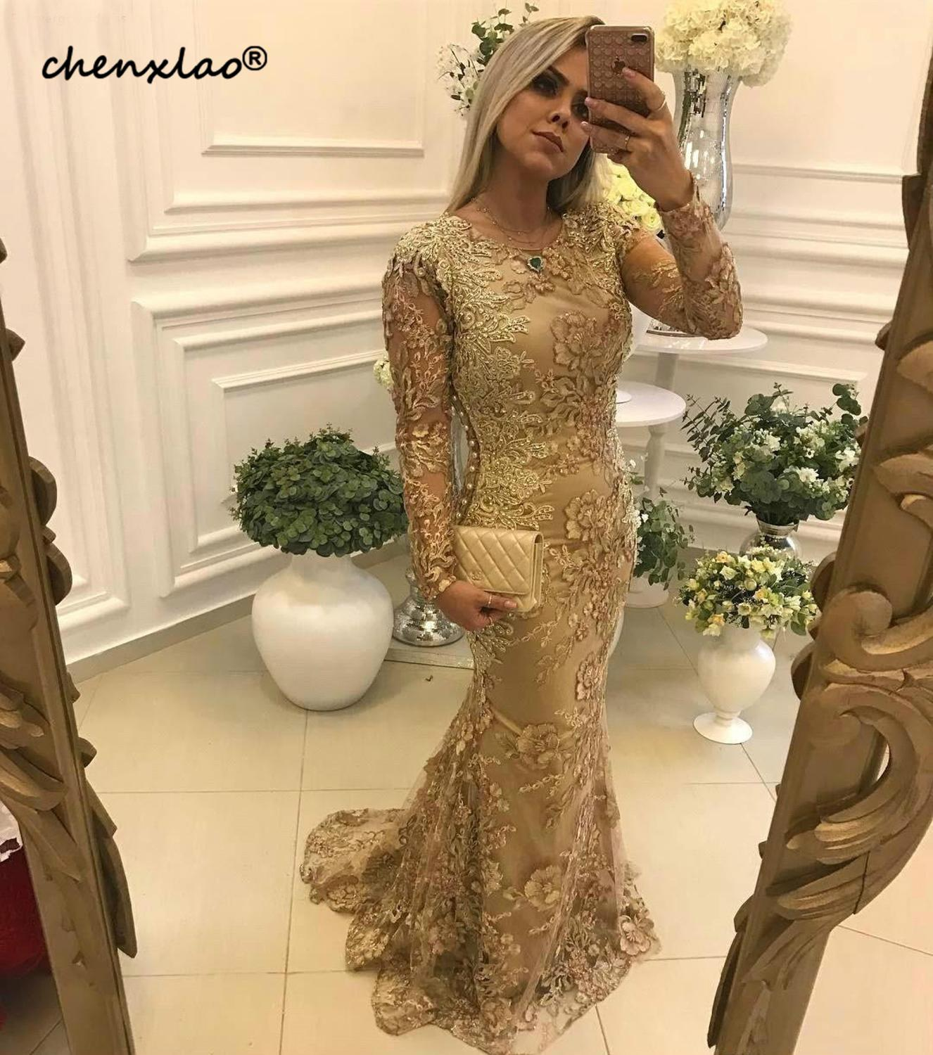 Vintage Mermaid Mother Of The Bride Dresses 2019 Elegant Long Sleeves Formal Groom Godmother Evening Wedding Party Guests Gowns