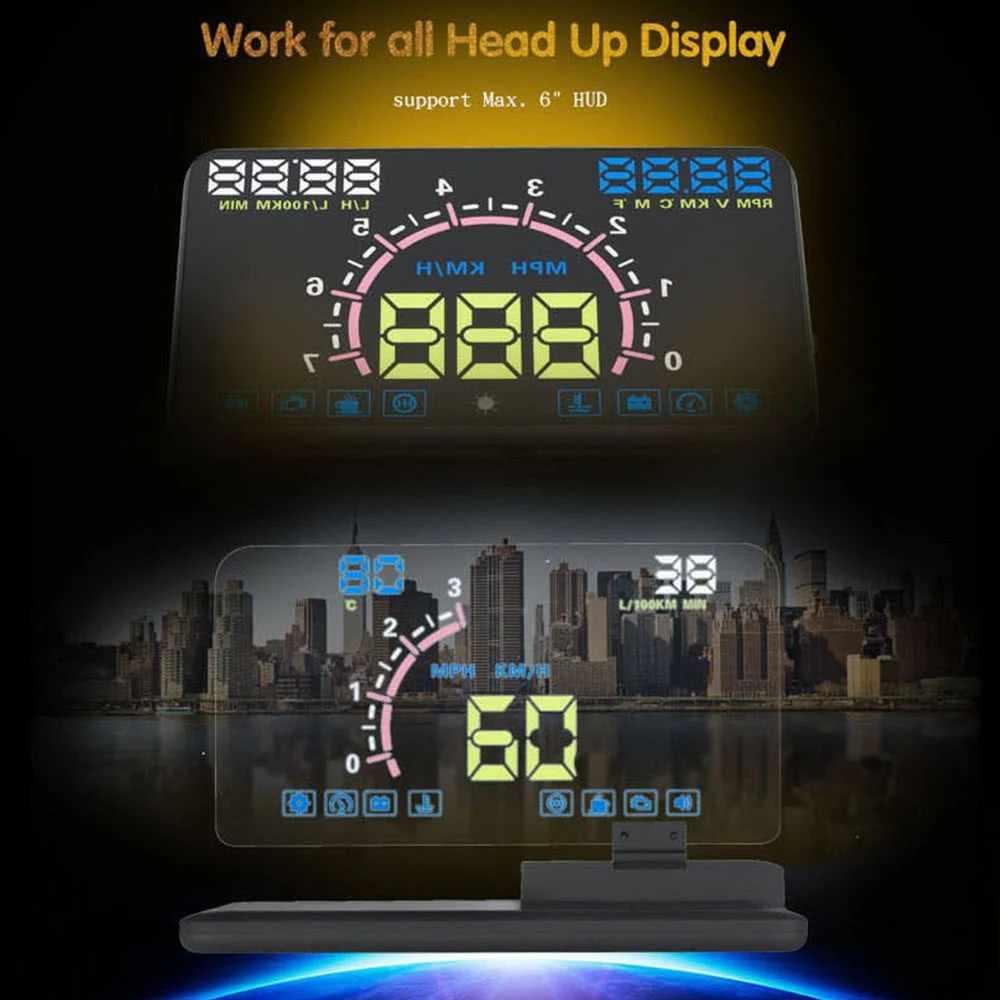 Hot Head-Up Display GPS Navigasi Mobil Dash Mount Ponsel Film Reflektif Kendaraan HUD Smartphone Pemegang Mount untuk IPhO