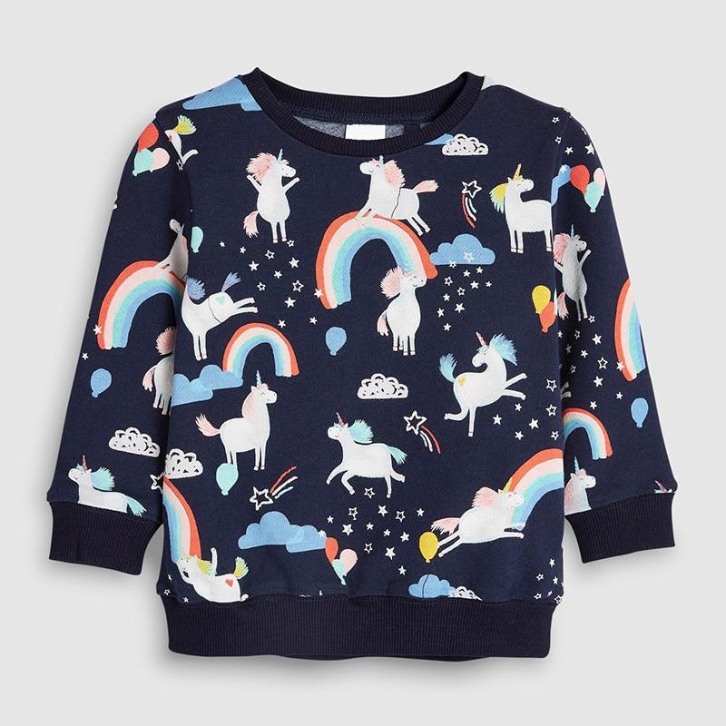 Little maven 2-7Years Autumn Rainbow embroidery Toddler Kids Baby Girl Sweatshirt Children's Little Clothing For Girl's Sweater 4