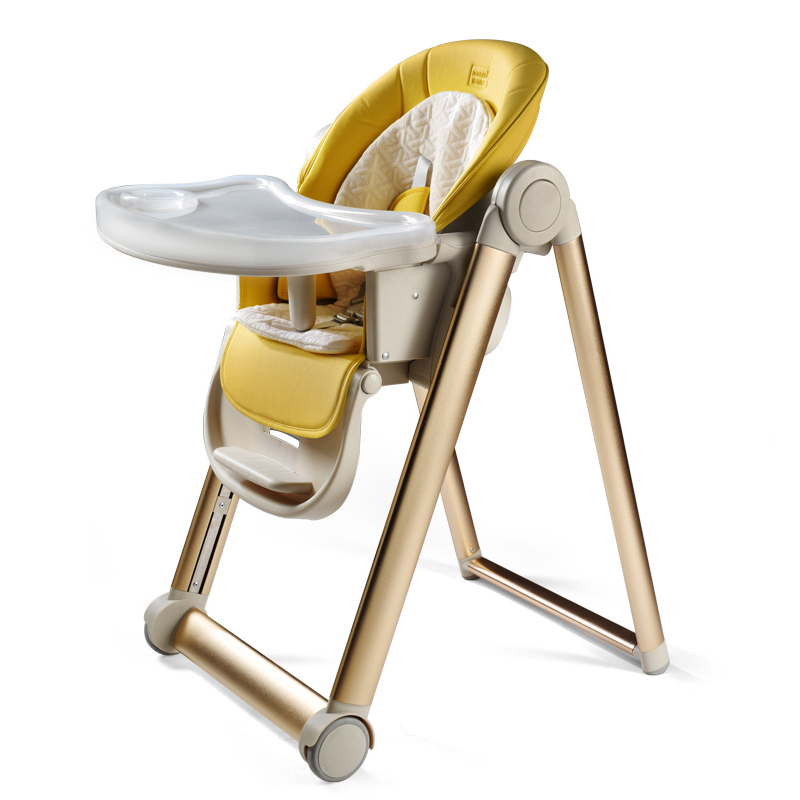 Aluminum Alloy Highchairs  Portable Baby Seat Baby Dinner Table Multifunction Adjustable Folding Chairs For Children